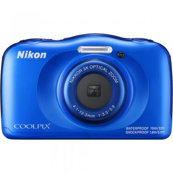 Nikon COOLPIX W100 Digital Camera (Blue)